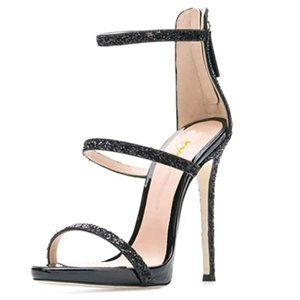 XYD Party Stilettos Pumps Sexy Strappy Open Toe